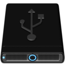 128x128px size png icon of Blue USB