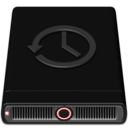128x128px size png icon of Red Time Machine