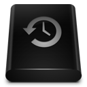 128x128px size png icon of Black Drive Backup