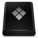 128x128px size png icon of Black Drive Bootcamp