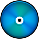 128x128px size png icon of CD Colored Blue