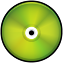 CD Colored Green Icon