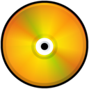 128x128px size png icon of CD Colored Orange