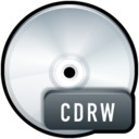128x128px size png icon of File CDRW