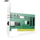 128x128px size png icon of Ethernet card Vista