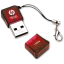 128x128px size png icon of Pen Drive HP 165w 16GB Red