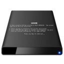 128x128px size png icon of BSOD External Black