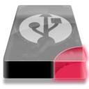 128x128px size png icon of Drive 3 br external usb
