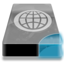 128x128px size png icon of Drive 3 cb network webdav