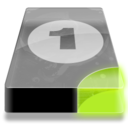 128x128px size png icon of Drive 3 sg bay 1