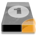 128x128px size png icon of Drive 3 uo bay 1