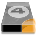 128x128px size png icon of Drive 3 uo bay 4
