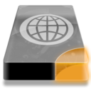 128x128px size png icon of Drive 3 uo network webdav