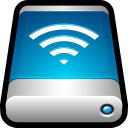 128x128px size png icon of Device External Drive Airport Disk