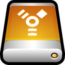 128x128px size png icon of Device External Drive Firewire
