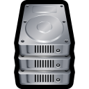 128x128px size png icon of Device Hard Drive Stack