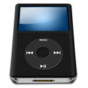 128x128px size png icon of IPod Black alt