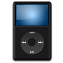 128x128px size png icon of IPod Black