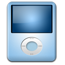 128x128px size png icon of IPod Nano Baby Blue