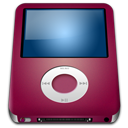 128x128px size png icon of IPod Nano Red alt