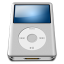 128x128px size png icon of IPod Silver alt