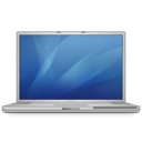 128x128px size png icon of powerbook g4 17