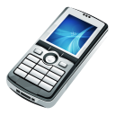 128x128px size png icon of Mobile Black