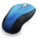 128x128px size png icon of Mouse Blue