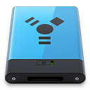 128x128px size png icon of Blue Firewire B