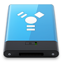 128x128px size png icon of Blue Firewire W
