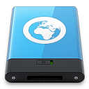 128x128px size png icon of Blue Server W