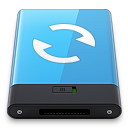 128x128px size png icon of Blue Sync W