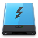 128x128px size png icon of Blue Thunderbolt B