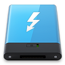 128x128px size png icon of Blue Thunderbolt W