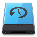 128x128px size png icon of Blue Time Machine B