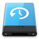 128x128px size png icon of Blue Time Machine W