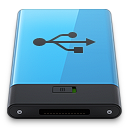 128x128px size png icon of Blue USB B