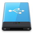 128x128px size png icon of Blue USB W