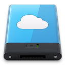 128x128px size png icon of Blue iDisk W