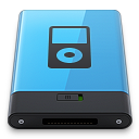128x128px size png icon of Blue iPod B