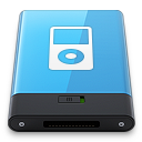 128x128px size png icon of Blue iPod W