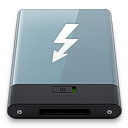 128x128px size png icon of Graphite Thunderbolt W