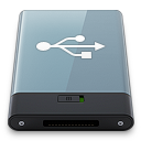 128x128px size png icon of Graphite USB W