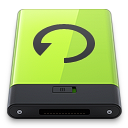 128x128px size png icon of Green Backup
