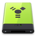 128x128px size png icon of Green Firewire
