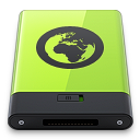 128x128px size png icon of Green Server