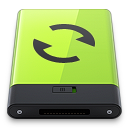 128x128px size png icon of Green Sync