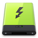 128x128px size png icon of Green Thunderbolt