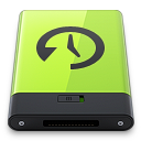 128x128px size png icon of Green Time Machine