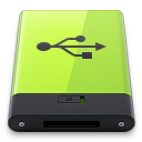 128x128px size png icon of Green USB